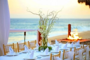 A beautiful wedding setup at Grand Solmar Land's End Resort and Spa in Cabo