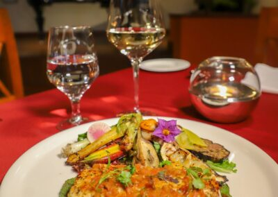 delicious meal by Grand Solmar Vacation Club